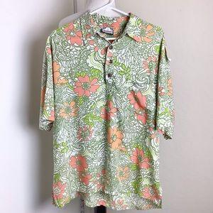Manuhealii Men's Short Sleeve Hawaiian Shirt Large